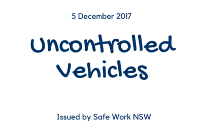 Uncontrolled movement of vehicles